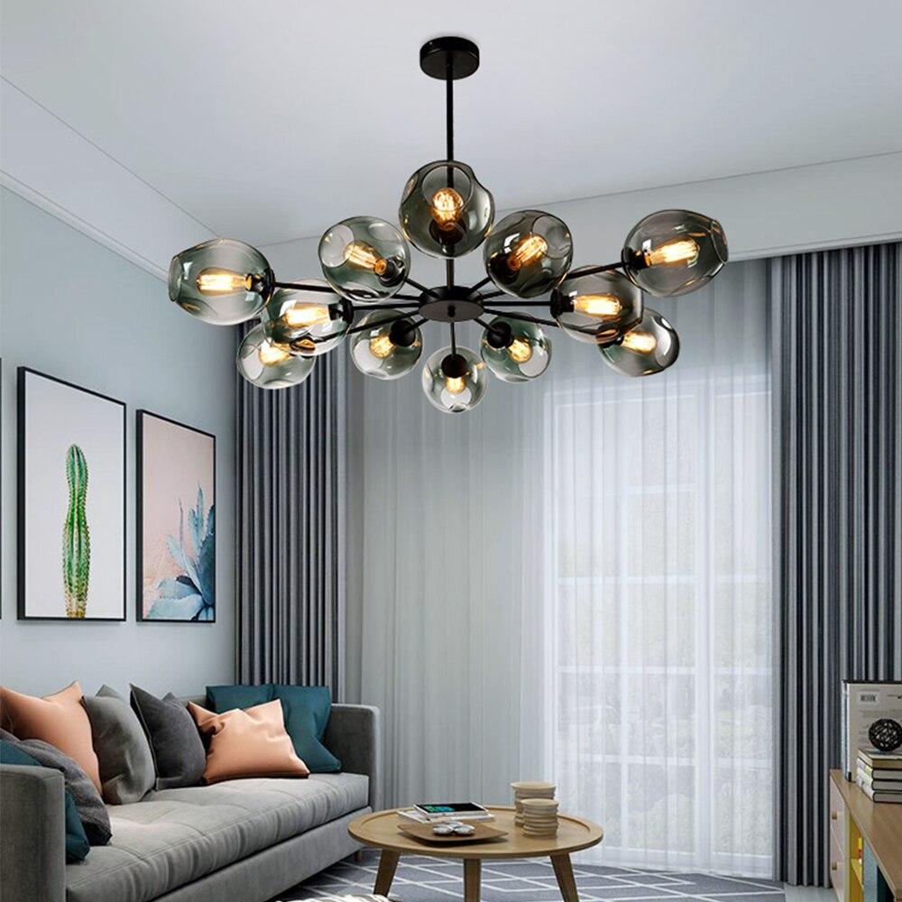 Moderno e minimalista lustre de decoração para casa sala jantar lâmpadas penduradas, restaurante iluminação criativa sala estar lustres interior