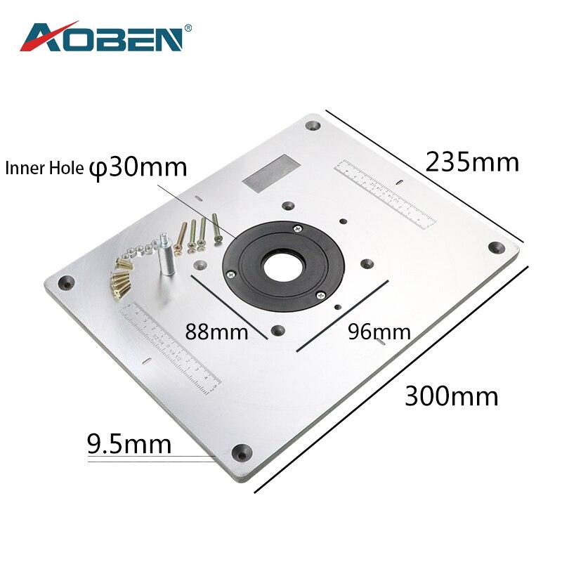 AOBEN, enrutador multifuncional de aluminio, placa de inserción de mesa para fresadora eléctrica de madera, máquina de recorte, bancos de carpintería