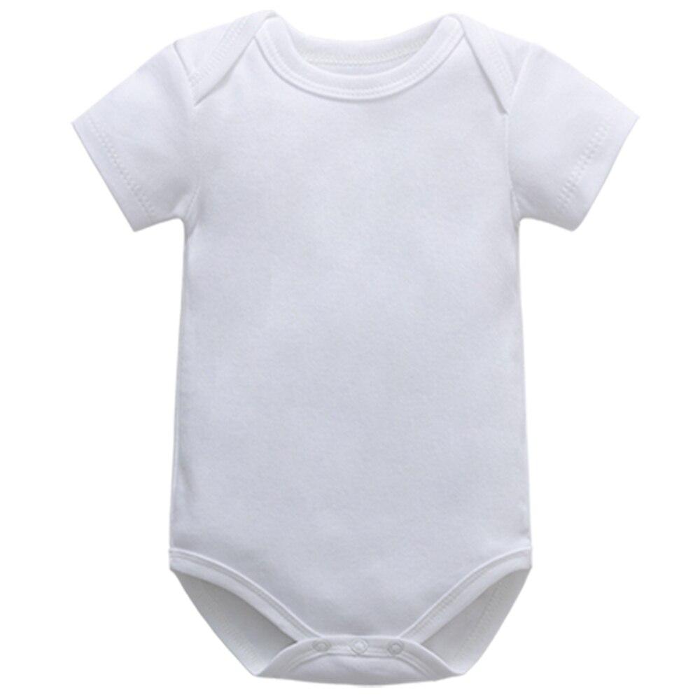 Боди для малышей, летнее хлопковое модное белое боди с коротким рукавом для мальчиков и девочек, боди для новорожденных, детская одежда
