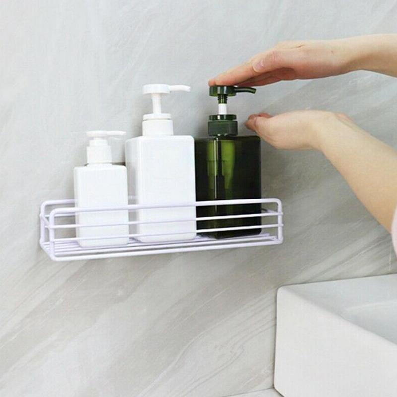Wall Bathroom Corner Shelf Shower Shampoo Bathroom Bathroom Holder Organizer Holder Shower Wall Accessories Rack Shelves St M7U3