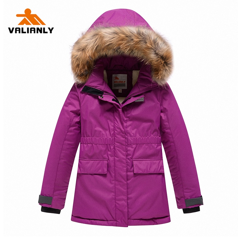 VALIANLY 2021 New Winter Girls Parka Kids Cotton Padded Coat Winter Coat For Girls Thick Warm Winter