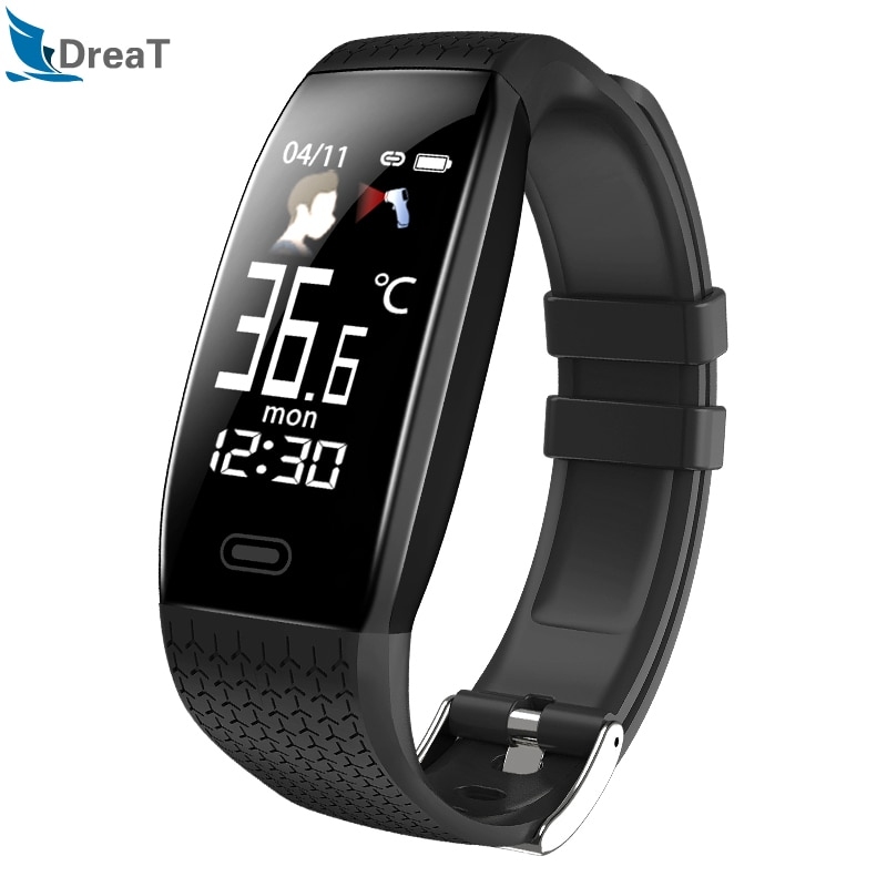 Dreat 2020-reloj inteligente T5 para hombre y mujer, deportivo resistente al agua, con IP67, llamadas, recordatorios y Modo deportivo