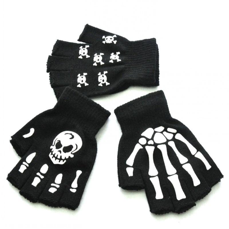 cardigans in sirdar snuggly baby crofter dk 1929 knitting pattern Skull Print Luminous Gloves Knitting Warm Half-finger Glowing In The Dark Fingerless Skeleton Pattern Gloves Unisex