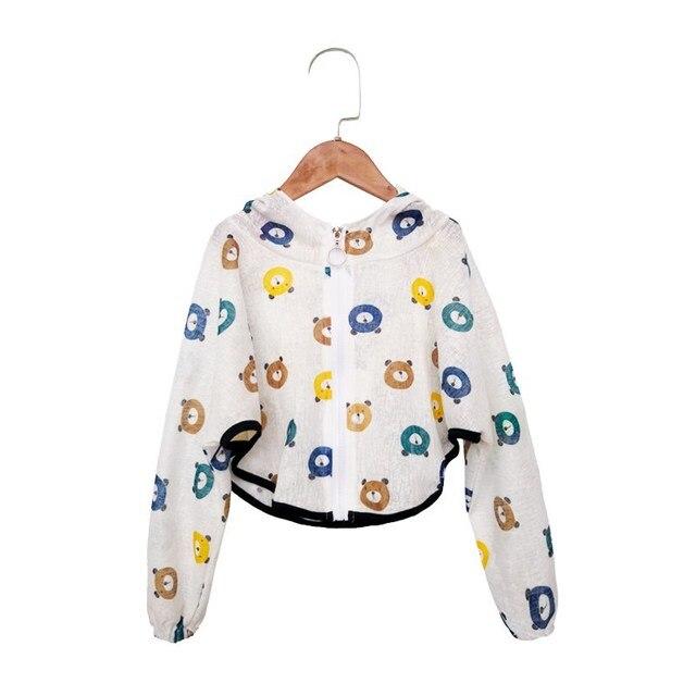 Casual niños con capucha protección solar ropa bebé niño niñas delgada capa dibujos animados niños playa protección solar chaqueta Navidad GiftZL50