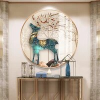 2021new 5d diamond painting full diamond deer living room crystal handmade diy point tile pearl embroidery cross stitch