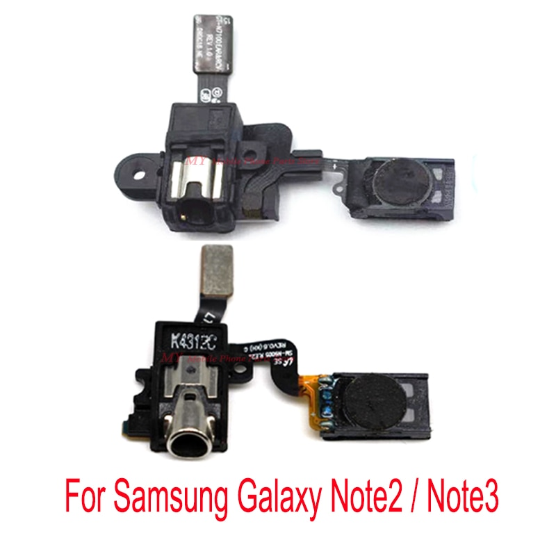 Auricular altavoz del auricular Audio Jack Flex Cable para Samsung Galaxy nota 2 Note2 N7100 N7108 N719/nota 3 Note3 N900 N9005