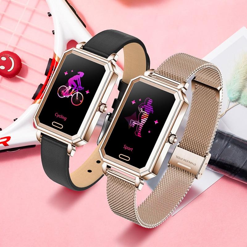 2021 New IP68 Waterproof Smart Watch Women Lovely Bracelet Heart Rate Monitor Sleep Monitoring Smart