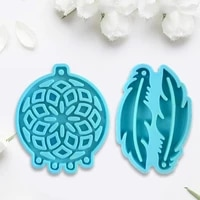 dream catcher feathers earrings epoxy resin mold diy crafts casting tools jewelry pendant silicone mould