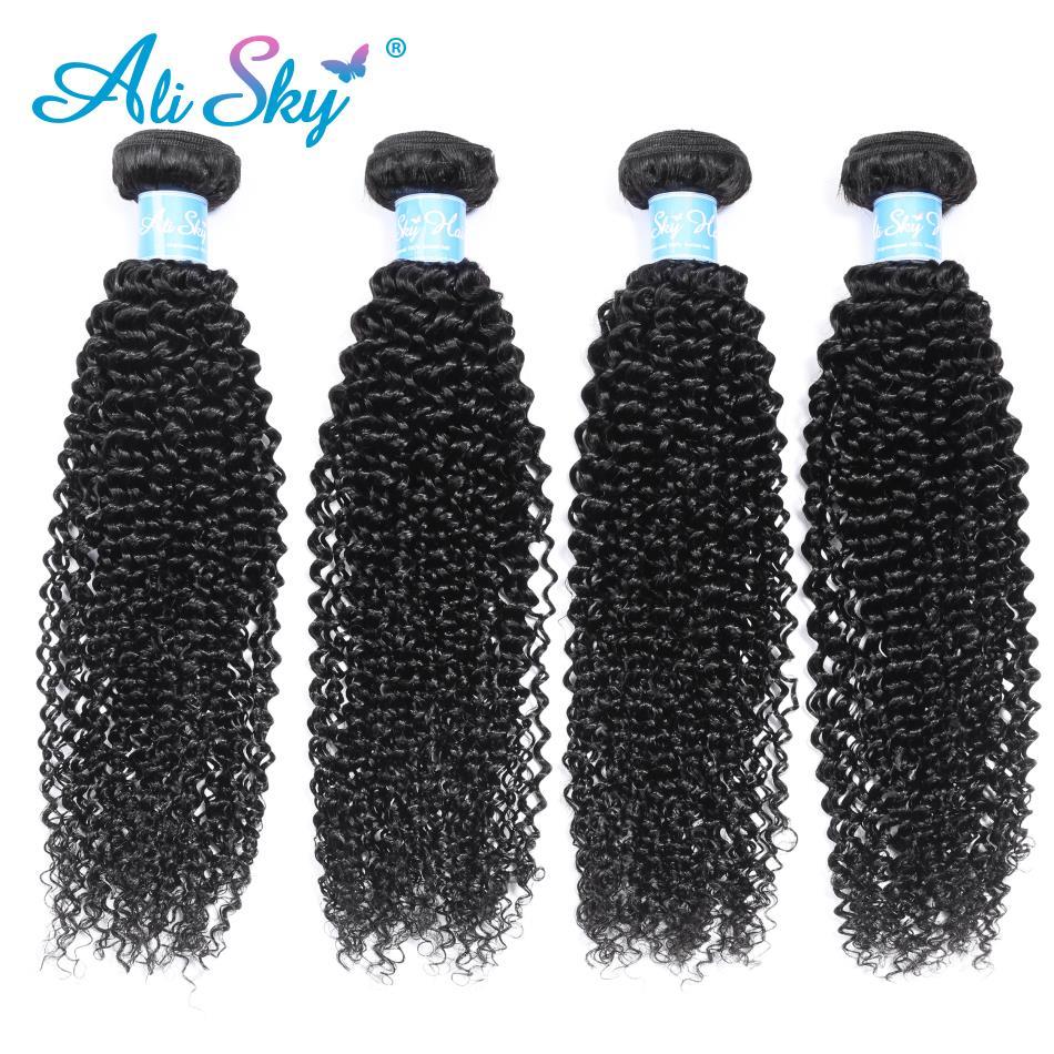 Alisky волос афро кудрявый вьющиеся пряди бразильские объемные человеческие волосы пряди Волосы Remy натуральные волосы для наращивания из нат...