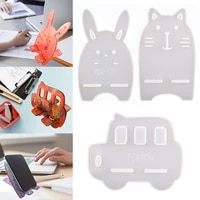 dm104 9 pcs mobile phone bracket cellphone holder stand support set for epoxy moule forma de silicone kit