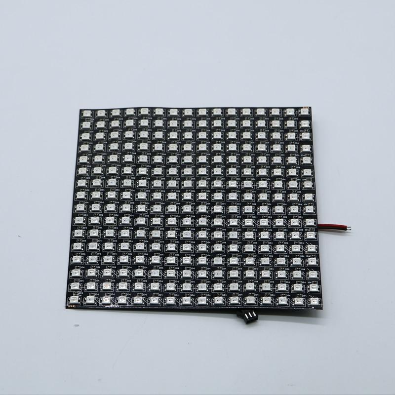 P10mm 16*16 píxeles 256leds flexible mini led de matriz de ws2812 WS2812b DC5V
