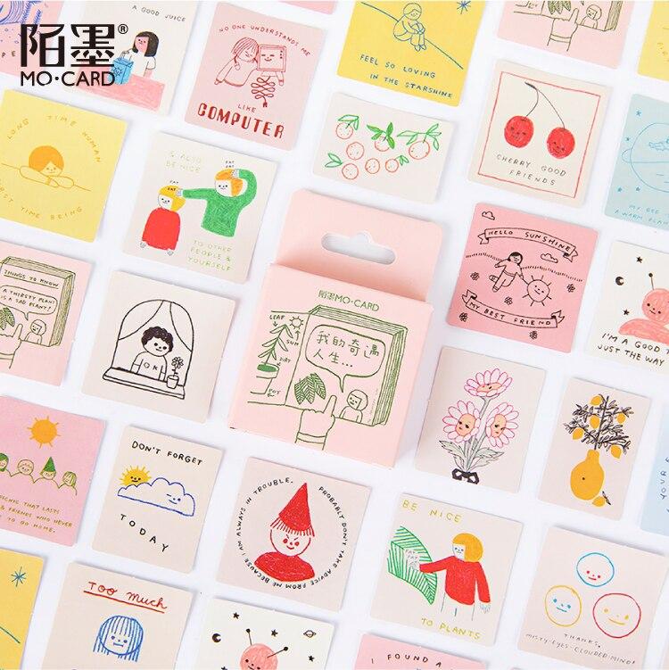 Pegatinas decorativas Kawaii de 46 Uds. Para Laptop, álbumes, diarios, álbumes de recortes, papelería para estudiantes, suministros de oficina