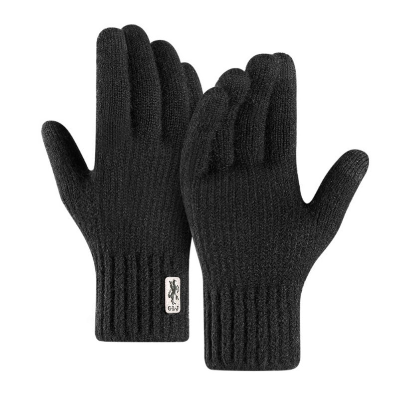Winter Unisex Knitted Gloves Touch Screen High Quality Male Mitten Thicken Warm Wool Cashmere Solid Men Motorcycle Gloves