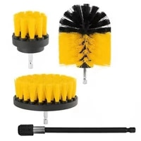 3pcs electric drill cleaning brush with sponge and extend attachment tile grout power scrubber tub cleaning brush ht2812