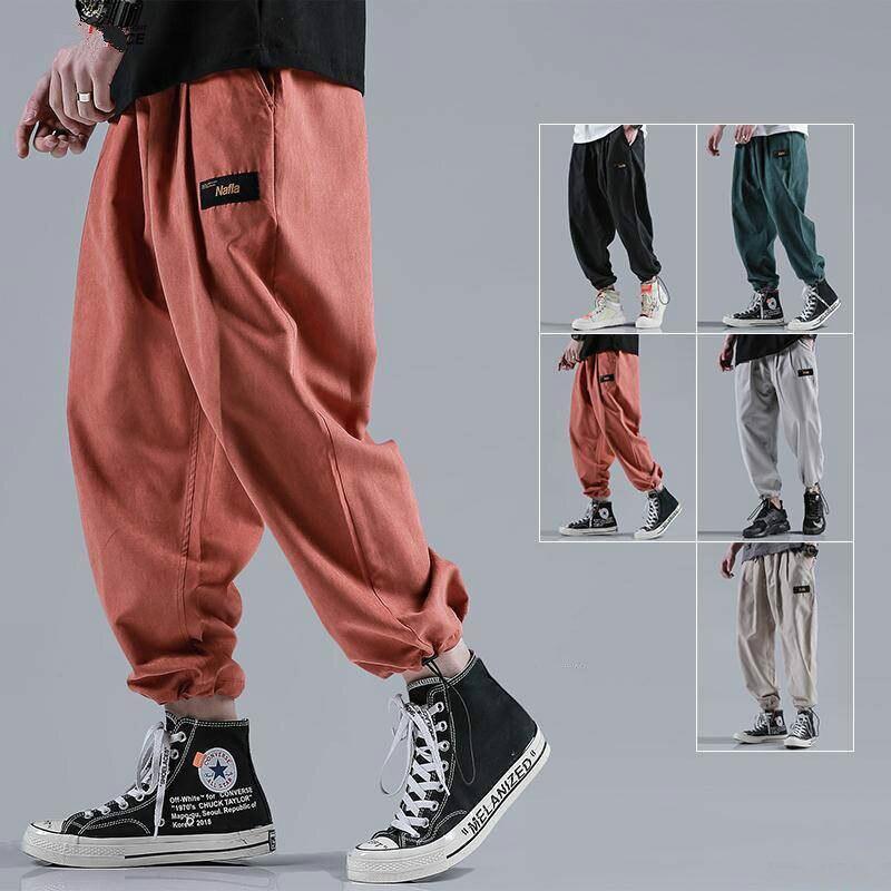Размера плюс 5XL мужские шаровары 2020 новые модные мужские брюки-карго с эластичной резинкой на талии женские повседневные штаны в стиле «хип-...