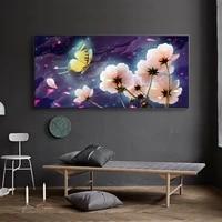 Peinture a lhuile de paysage vegetal  toile dart de chrysantheme sauvage  salon  couloir  bar  decoration murale de maison