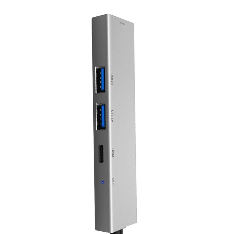 USB tipo C a HDMI Digital multipuerto AV Centro USB-C USB3.1 adaptador de cargador para Nintendo interruptor portátil 4K HDMI Dock