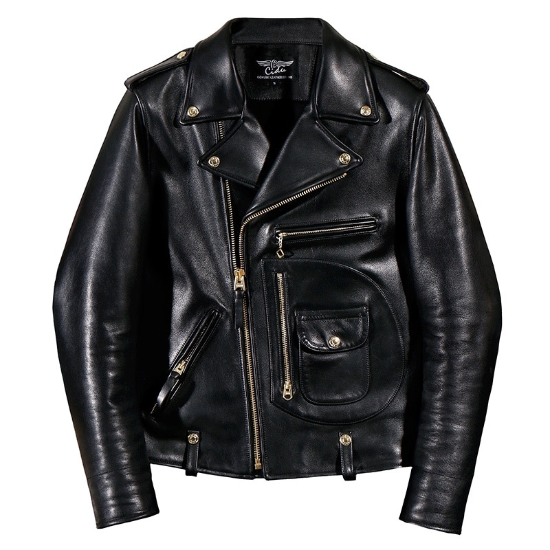 YR!Free shipping.Italy Luxury Batik cowhide clothing,motor biker style leather jackets,J24 Man vintage genuine leather coat,
