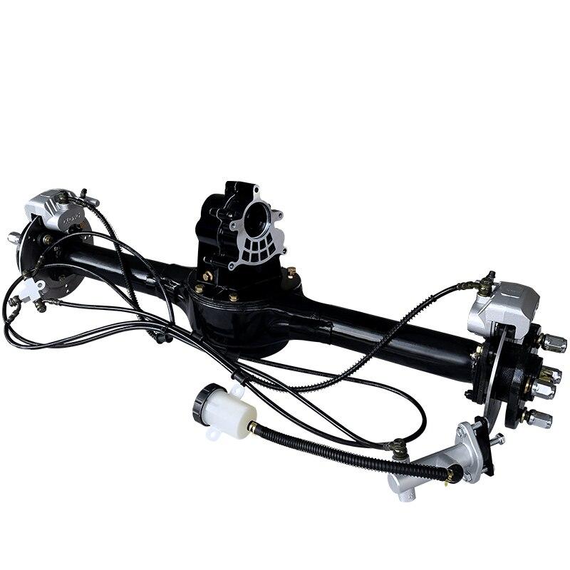 Eje trasero eléctrico de cuatro ruedas, triciclo eléctrico, eje trasero de freno de disco modificado