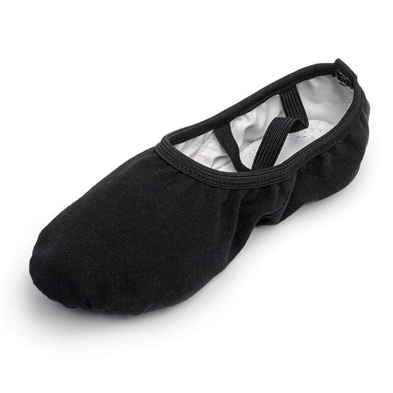 USHINE negro profesional completo elástico cordón entrenamiento cuerpo forma yoga vientre ballet zapatos de baile balletrina niños niña Mujer