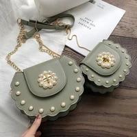 2020 summer new saddle bag high quality pu leather flip bag womens designer handbag pearl lock chain shoulder messenger bags