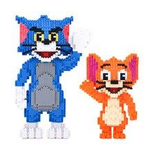 Classico Del Fumetto Anime Blocchi di Diamante Del Mouse Del Gatto Tom Modello Jerry Mini Micro Mattoni Giocattoli Per Il Regalo