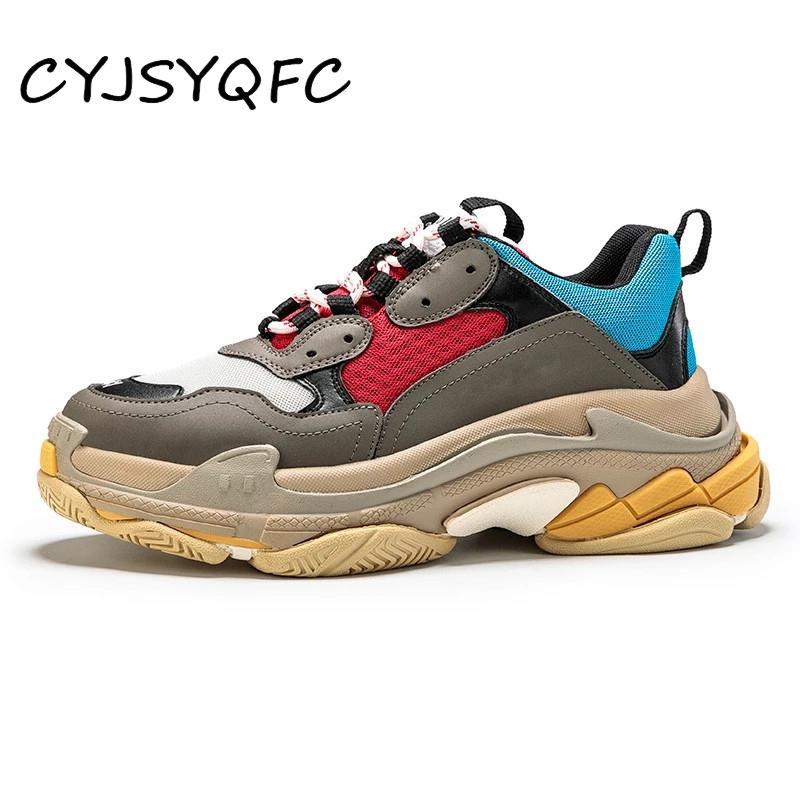 CYJSYQFC جديد الخريف تنفس شبكة بابا أحذية جلد طبيعي شقة منصة النساء أحذية رياضية المدربين الدانتيل يصل امرأة فلكنيز الأحذية