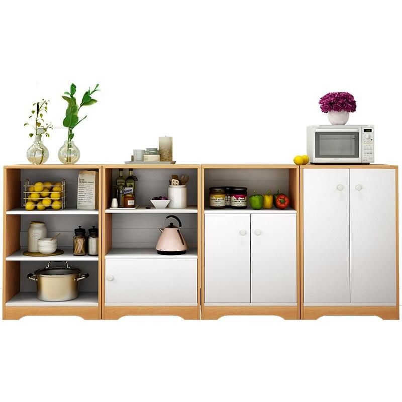 خزانة تخزين المطبخ ، خزانة جانبية بسيطة للطاولة ، خزانة خشبية صلبة بسيطة ، للشاي والماء ، للطعام