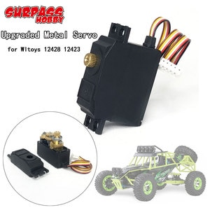 1:12 Upgraded 25g Metal Gear 4.5kg Servo for Wltoys 1/12 12428 12423 RC Desert Truck Short Course Car