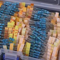 1100 pces 110 valores 0.1r-10 m ohm 1/2 w resistores sortimento jogo sortido