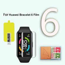 3-5Pcs TPU Soft Protective Glass For Huawei Honor Band 6 Glass Screen Protectors Film For Honer Band6 Smart Bracelet Accessories