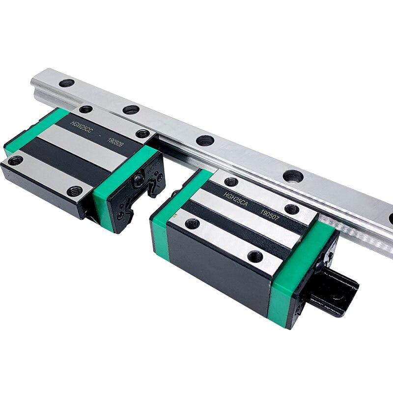 شحن مجاني 2 قطعة HGH20 مربع دليل خطي السكك الحديدية أي طول 4 قطعة كتلة الشريحة عربات HGH20CA/flang HGW20CC نك راوتر النقش
