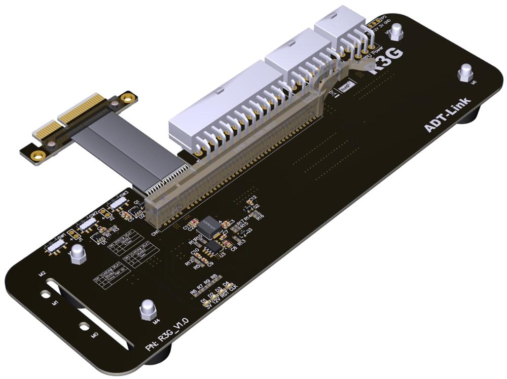 EGPU بكيي x16 إلى بكيي x4 كابل تمديدي للمحول 16x PCI اكسبريس الكابلات eGPU ل بطاقة جرافيكس الخارجية