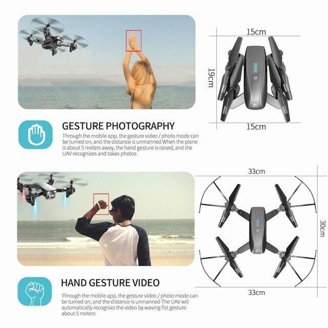 SHRC S173 Mini Drone With Camera 4K HD Professional Wide Angle Selfie WIFI FPV VS RC Quadcopter S167 Dron GPS 8