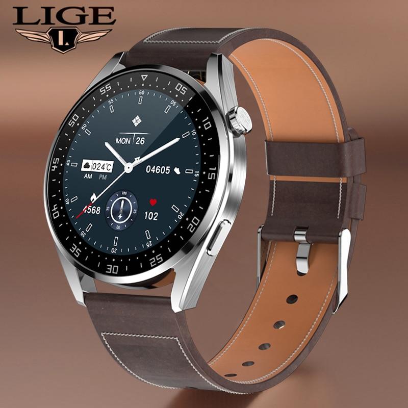 Get LIGE New Fashion Smart Watch Men Sports Fitness Watch Waterproof Bluetooth Call Smart Clock For Android iOS Men smartwatch Women