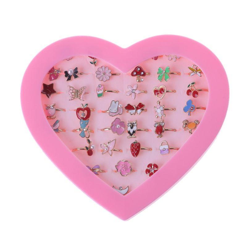 5 шт. причудливый Регулируемый Мультяшные кольца вечерние свадебные сувениры для маленькой девочки Фигурки игрушки C5AF
