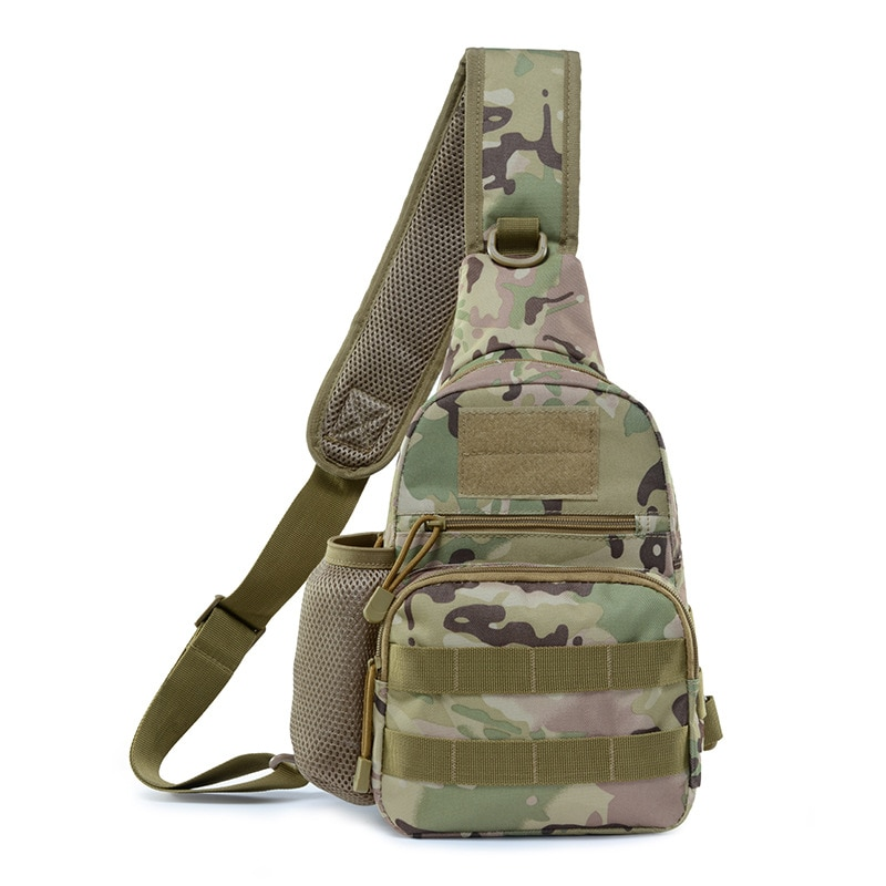 Tactical Backpack Outdoor Sports Chest Bag Waterproof Camouflage Rucksack Hiking  Military Camping Travel Shoulder Bag Pack