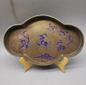 China brass archaize dish crafts statue