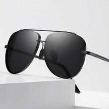 New Men Polarized Sunglasses Oversized Aviation Frame Night Vision Driving Sun Glasses for Rays Bran