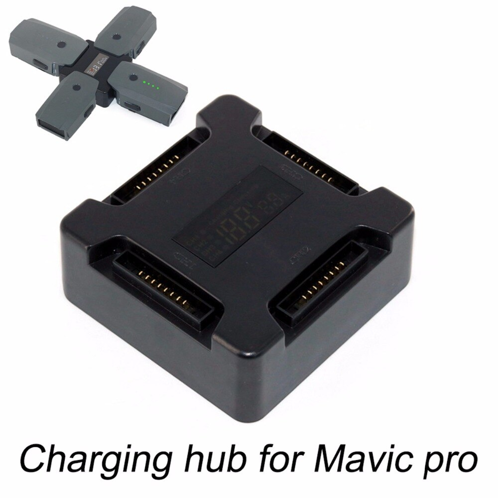 Hub de carga de batería 4 en 1 para Dron DJI Mavic Pro Platinum, concentrador de Carga inteligente de batería múltiple portátil con pantalla