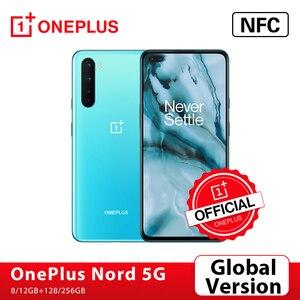 Оригинальная глобальная версия OnePlus Nord 5G Snapdragon 76 5G смартфон 8 ГБ 128 6,44 ''90 Гц активно-матричные осид, 48MP Quad камеры Warp заряжайте 30T
