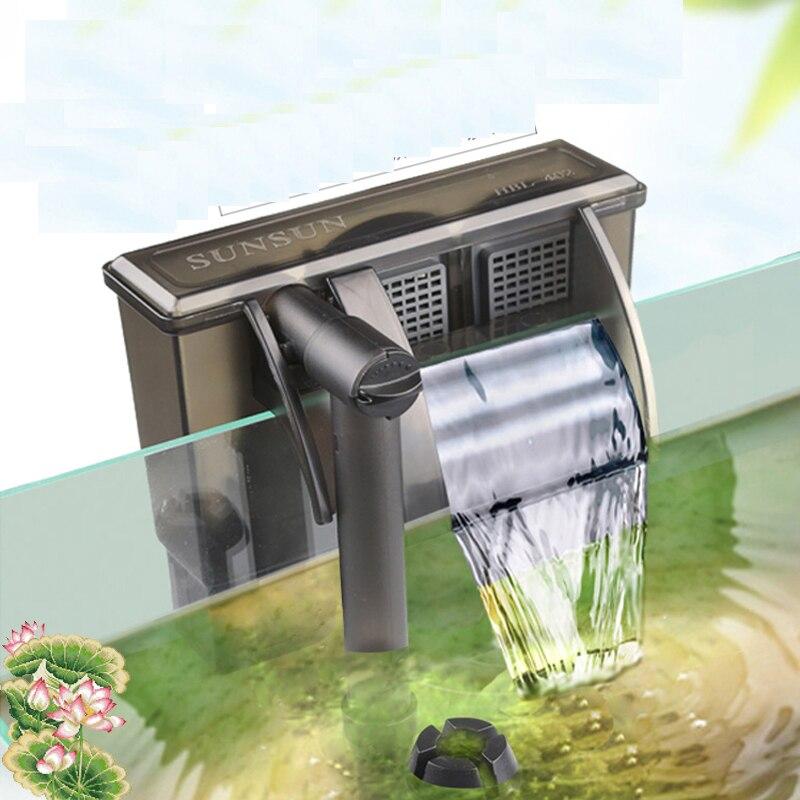 wall-mounted waterfall filter three-in-one external fish tank oxygen pump small aquarium turtle tank HBL301 302 303