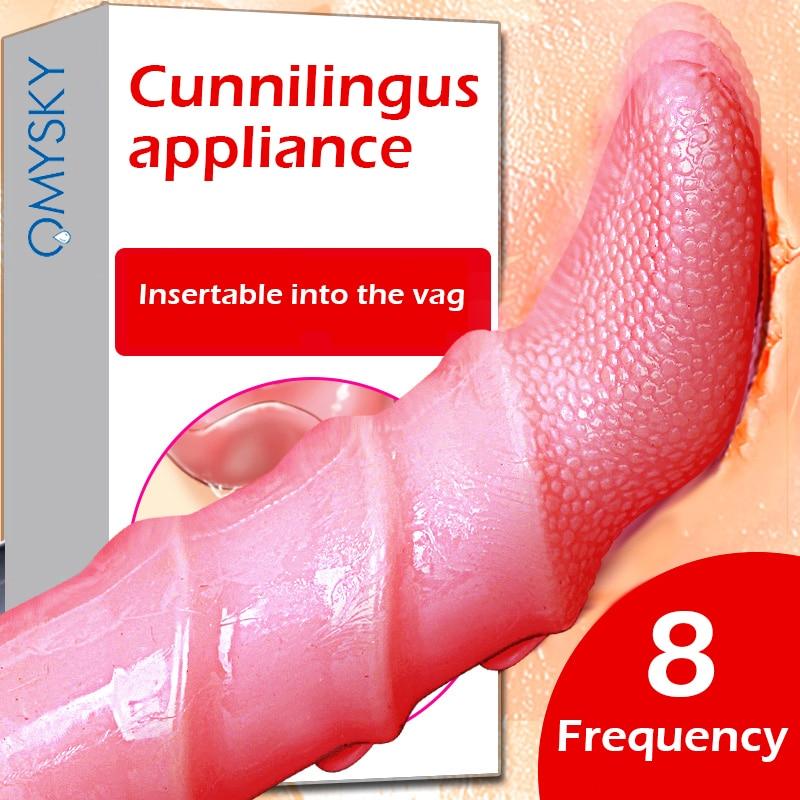 Vibrador de lengua Omysky, Vagina apretada, vibrador estimulador de clítoris para lamer Oral, Juguetes sexuales para mujeres, eróticas, Sex Shop