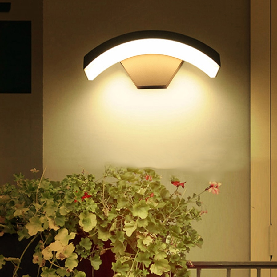 18 واط 24 واط في الهواء الطلق إضاءة مقاومة للماء الجدار ضوء الألومنيوم شرفة الشرفة الجدار مصباح فيلا سياج فناء الممر حديقة الجدار مصباح