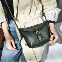 retro fashion luxury natural real leather ladies messenger bag everyday leisure outdoor weekend party ladies cute shoulder bag