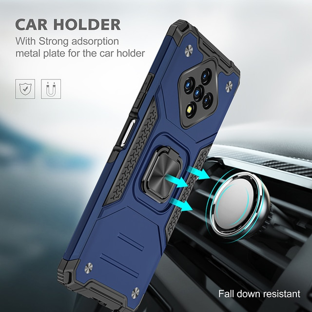 Magnetic Metal Ring Holder Phone Case For Infinix Zero 8 Hot 9 10 Play Note 7 Lite Smart 4 Soft TPU Bumper Hard PC Back Cover 2