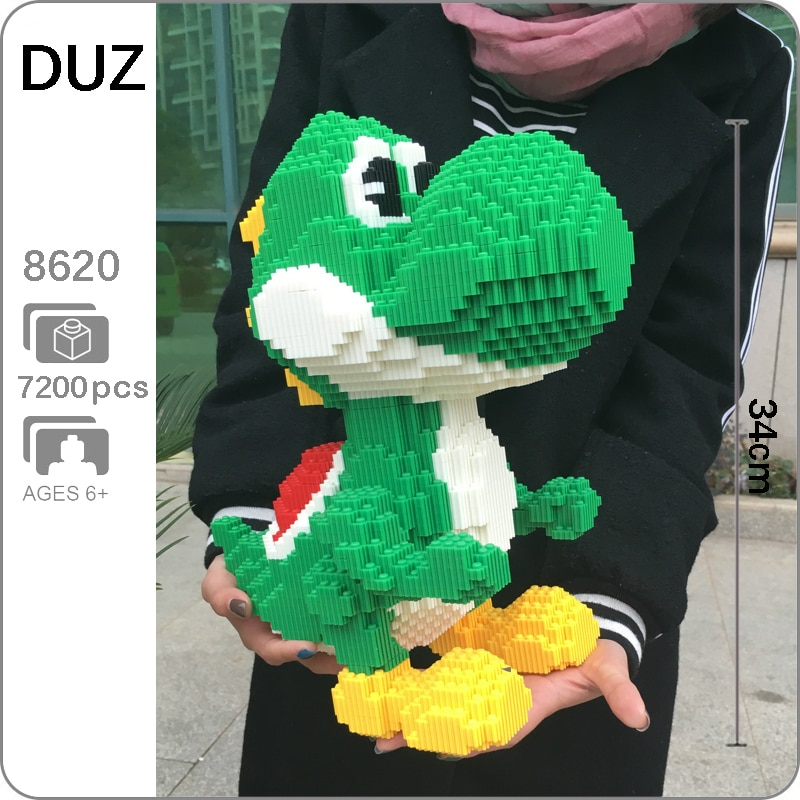 DUZ 8620 videojuego Super Mario Yoshi modelo grande 3D DIY Mini bloques de construcción ladrillos juguete para niños 34cm de alto sin caja