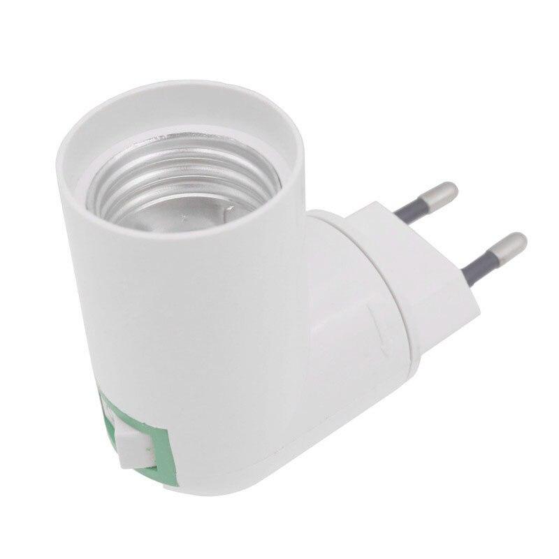Ue plug pbt pp para e27 base branca lâmpada led base suporte da lâmpada adaptador conversor soquete para e27