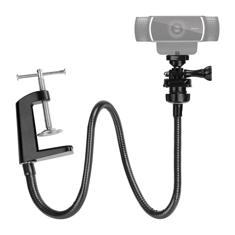 Новинка 2020, стойка для веб-камеры, улучшенный прочный Настольный зажим для камеры с гибкой шеей для веб-камеры Logitech, Прямая поставка