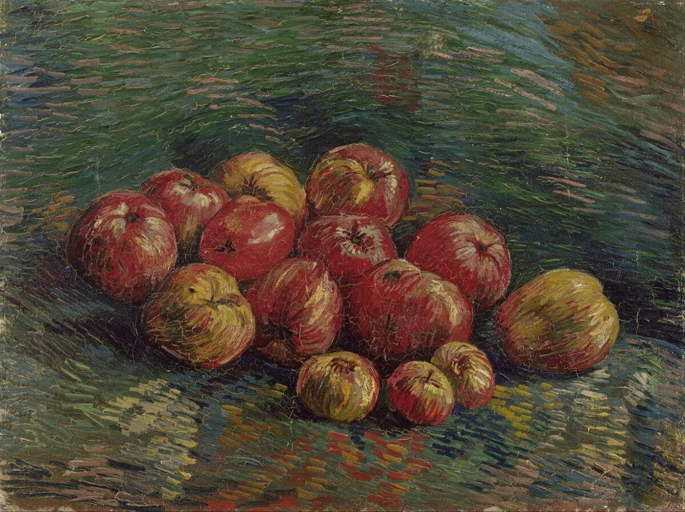 Vincent Van Gogh-Póster Artístico impreso de manzana, pinturas al óleo para pared,...